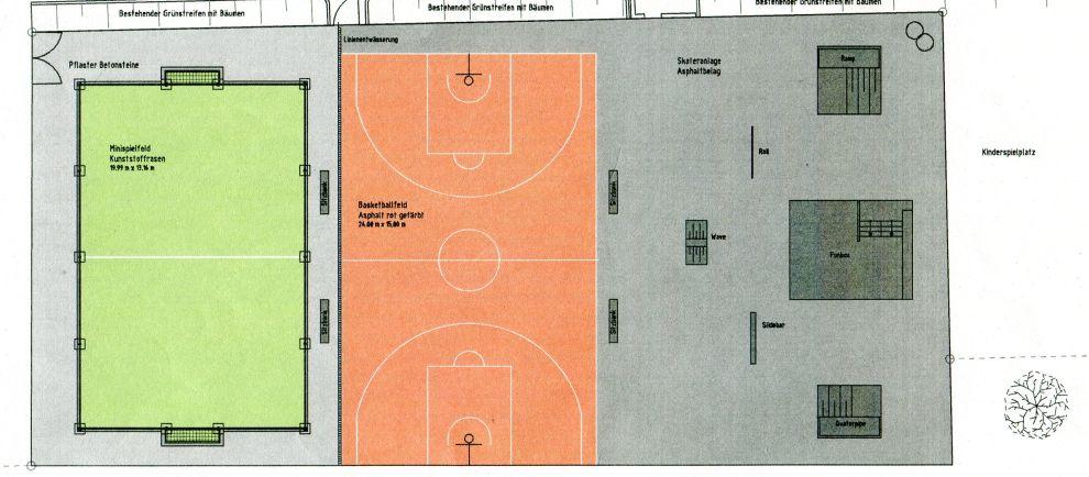 Plan des Sportparks Krautländer