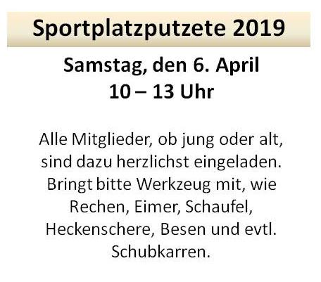 Sportplatzputzete 2019